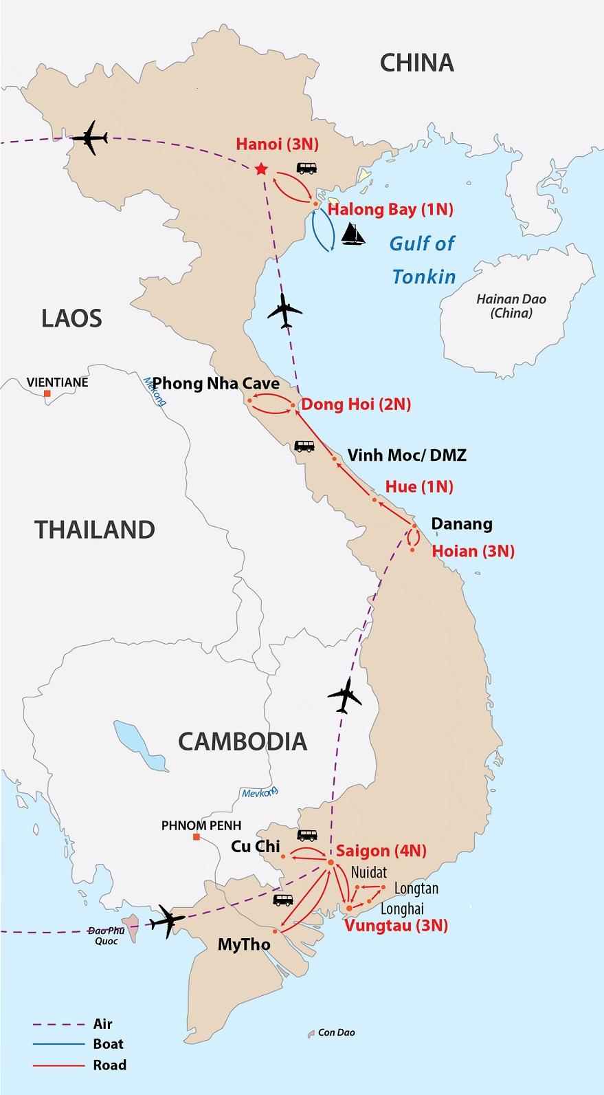 Whole Vietnam Besides Long Tan Cross 18 Days